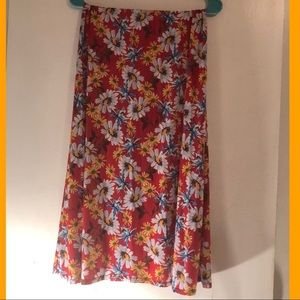 Long Floral Multi Colored Skirt